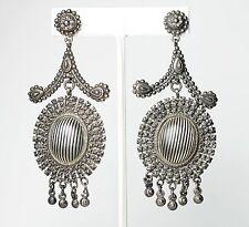 Victorian Cut-Steel Chandelier Drop Earrings