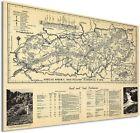 1940 Great Smoky Mountains Map Poster -  Smoky Mountains Wall Art Poster Decor