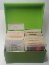 Vintage The Betty Crocker Green Recipe Card Library Box 1971 Complete