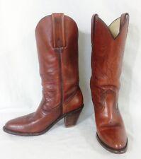 "Womens Frye Leather Western Boots 6.5B Brown Cognac 3"" Heel Pointed Toe"