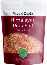 Viva Doria Himalayan Pink Salt, Crystal Salt - Coarse Grain, 5 lb (2.2 kg)
