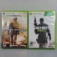 Call of Duty: Modern Warfare 3 Xbox 360 MW3 and Modern warfare 2 lot of 2 games