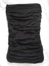 Fendi Black Ruched Tube Strapless Top Size 42