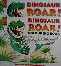 Dinosaur Roar! Hardback,2004 AND Colouring Book by Henrietta & Paul Strickland