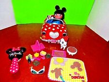 Minnie Mouse Convertible Car Playset with Huge Lot of Accessories Disney