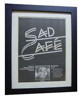 SAD CAFE+Misplaced Ideals+POSTER+AD+RARE ORIGINAL 1978+FRAMED+FAST+GLOBAL SHIP