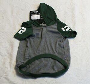 """Aaron Rogers NFLPA Pet Wear Hoodie Tee SV3 Green Large (20""""-24"""") NWT"""
