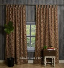 Indian Traditional Paisley Hand Block Print Door Cotton Curtain Drapes Tapestry