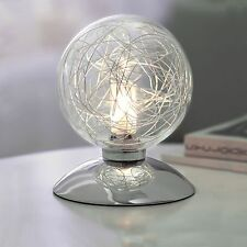Wofi LAMPE DE TABLE VERRE CHROME 1-FLG boule en Interrupteur 33 watts 460 lumen