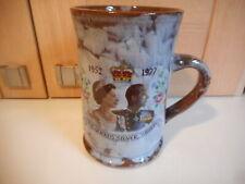Ewenny Welsh Pottery Queen Elizabeth II Silver Jubilee mug 1977