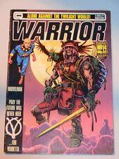 WARRIOR #14 OCTOBER 1983 QUALITY UK MAGAZINE MARVELMAN V FOR VENDETTA<