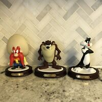Looney Tunes Six Flags Ceramic Figures Tasmanian Devil Sylvester Yosemite Sam