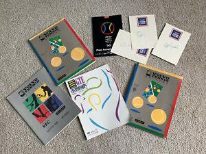 VOLVO GTE Tennis Programs 1988-91 Lot Championship AUTOGRAPHS Stats PRESS INFO