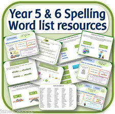 Year 5 & 6 SPELLING WORD LIST teaching resources IWB worksheets activities on CD