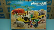 Playmobil 9768 Mattel Kngorongoro Expedition Animal safari Rhino Jeep Geobra