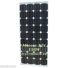 Panneau solaire monocristallin 12V 150W photovoltaïque camping-car