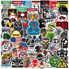 Hard Hat Stickers 100 Pcs Funny Construction Vinyl Decals Sticker For Tool Box