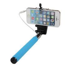 Extendable Selfie Stick, Works Smartphones, Connects through Audio Jack, Blue