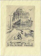 IVO SALIGER: Exlibris für Dr. Ing. Rudolf Saliger