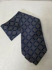 Men's Neck Tie Navy Blue Pattern Polyester