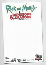 RICK AND MORTY vs DUNGEONS & DRAGONS II #1 Oni Press 2019 Blank sketch Variant