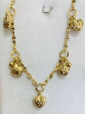 18k Solid Yellow Gold Dangle Bracelet 5.50 Grams 7+ Inches(399$)