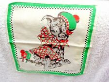 Tom Lamb Scottish Terrier Plaid Jacket Green Edge Child's Handkerchief