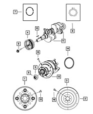 Genuine MOPAR Crankshaft Bearing Package 5066735AB