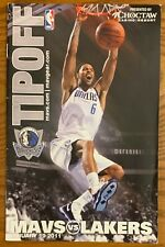DALLAS MAVERICKS vs. LOS ANGELES LAKERS TIPOFF PROGRAM FROM JANUARY 19, 2011