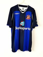 Sunderland Away Shirt 2008. Medium Umbro. Blue Adults Short Sleeves Football Top