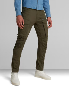 G-STAR D02190 GREEN ZIP 3D TAPERED ROVIC TROUSERS NOW £80