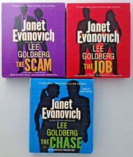 The JOB CHASE SCAM Janet Evanovich Lee Goldberg Audio CD lot of 3