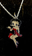 Red Flapper Betty Boop Entertainer  Sexy Lady  Charm necklace