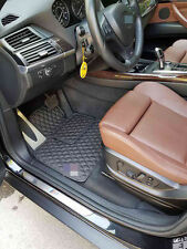 Luxury Black Bespoke Leather Car Floor Mats Fully Tailored fit BMW X5 F15 2013-