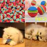 6pcs Pet Cat Kitten Soft Foam Rainbow Colorful Play Balls Funny Activity Toys