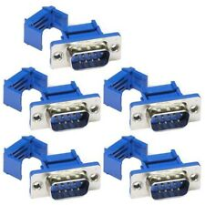 5 Pcs DB9 D-SUB 9 Pin RS232 Serial Male IDC Solderless Connector Metal Shell