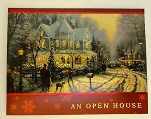 Hallmark Thomas Kinkade Party Invitations ~ A Holiday Gathering Winter Christmas