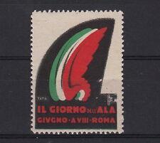 Erinnofilo 1930 il Giorno dell'ala TATO TRICOLORE ROMA