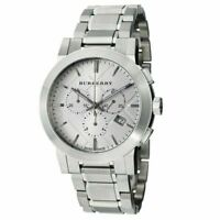 Burberry BU9350 Silver Dial Chronograph Stainless Steel Men's Watch
