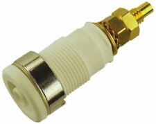 Hirschmann Test & Measurement, White 4mm Banana Plug, Gold Plated, 1000V ac/dc,