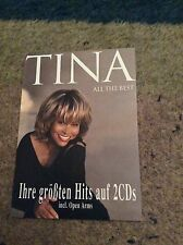 TINA TURNER- ALL THE BEST- RARE PUBLICITY POSTCARD