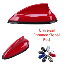 Car Roof Red Shark Fin Style Antenna Aerial FM AM Radio Signal Enhance Exterior