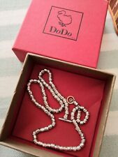 Collana Dodo Pomellato granelli argento oro lunga 40cm