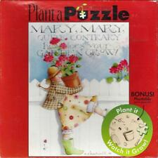 "Plant a Puzzle Mary Quite Contrary Garden Grow 750 Pcs 24"" x 18"" Mini Seeds New"