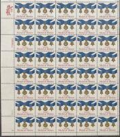 USA Briefmarken Bogen 40x 20 Cent 1983 Medal of Honor #30701-S