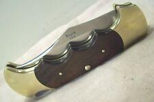 1970's~RIGID USA~APACHE R9~LOCKBACK FINGERGRIP ROSEWOOD VINTAGE FOLDING KNIFE~