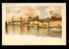 Switzerland ZURICH Schiffe Frey & Sonne u/b litho PPC