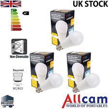 3PK: Allcam 10W B22/BC ampoule led, 810 lm (~ 60-70W à incandescence) blanc chaud, globe
