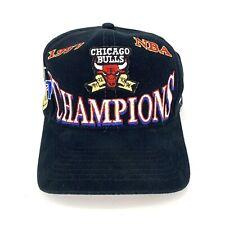 Vintage Chicago Bulls 1997 97 NBA Champions Snapback Hat Logo Athletic Jordan