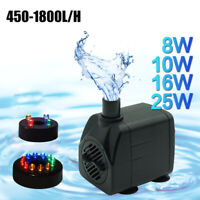 Electric Water Feature Pump Small Fountain Garden Fish Pond 450-1800L/H